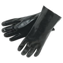 """Liberty 2233 L MCR Safety 6212 12"""" Black PVC Gloves Smooth 1 Dz  From $16  10+"""