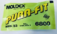 Moldex 6800 Purafit Earplugs Nrr33 Uncorded Bag/100 Pairs
