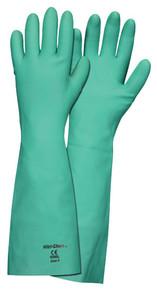 "MCR 5350 L Large Green Nitrile Glove Unlined 18""/22 Mil 1 dz"