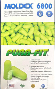 Moldex 6800 Purafit Earplugs Nrr33 Uncorded Bx/200 Pairs From $27.99 10+