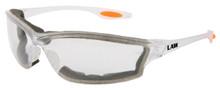 48 Pairs Crews Lw310Af Mcr Law 3 Safety Glasses Clear Anti-Fog Lens Foam Lining