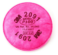 3M 2091 P100 Filter For Respirator 6200 7502 6800 2-Pack   From 11.99 10+