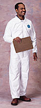 Dupont TY125S L Large Tyvek Coveralls EWA Elastic Wrist/Ankle Cs/25