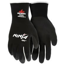 MCR N9699 X-Large Ninja HPT Black Nylon Gloves With PVC Foam Coating 12 Pairs