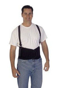 Liberty 1908 Medium Black Back Support With Suspenders 36-40""