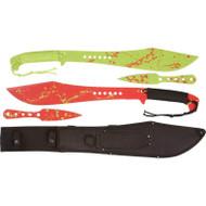 Rampant 5pc Machete/throwing Knife Set