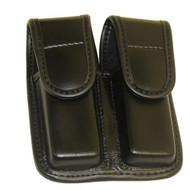 Double Mag Pouch Plain HR Black-Size 2 Hidden