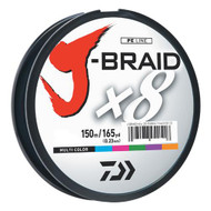 J-Braid Braided Line, 40 lbs Tested - 165 Yards/150m Filler Spool, Multi Color