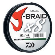 J-Braid Braided Line, 40 lbs Tested - 165 Yards/150m Filler Spool, Dark Green
