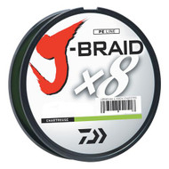 J-Braid Braided Line, 30 lbs Tested - 330 Yards/300m Filler Spool, Chartreuse