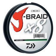 J-Braid Braided Line, 10 lbs Tested - 330 Yards/300m Filler Spool, Dark Green