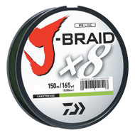 J-Braid Braided Line, 10 lbs Tested - 165 Yards/150m Filler Spool, Chartreuse