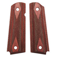 Colt & 1911 Government Grip - Rosewood Laminate Checkered