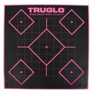 5 Diamond Target 12x12 - Pink, 6 Pack