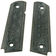 "1911 Government/Commander 3/16"" Thin Grip - G-10 Checkered G-Mascus Green"