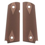 "1911 Government/Commander 3/16"" Thin Grip - Aluminum Checkered Matte Green Anodized"