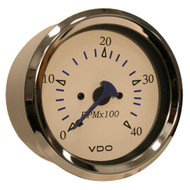 VDO Allentare White 4000RPM 3-3/8 (85mm) Diesel Tachometer (Alternator) - 12V