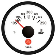 VDO Viewline Ivory 250F Water Temperature Gauge 12/24V - Use with VDO Sender