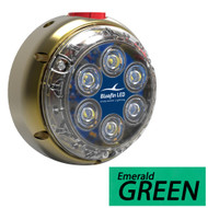 Bluefin LED DL12 Underwater Dock Light - Surface Mount - 24V - Emerald Green