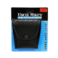 Mirage Compact Cuff Case with Flap - Basketweave Black