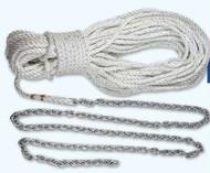 """Lewmar 10' 1/4"""""""" G4 Chain W/150' 1/2"""""""" Rope"""