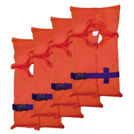 Adult Type II PFD - Orange, Carry Bag, Per 4