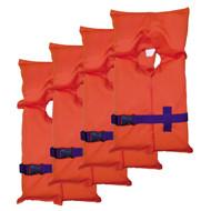 Adult Type II PFD - Orange, Carry Bag, Per 4
