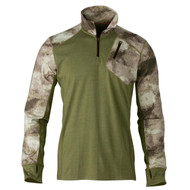 Hell's Canyon Speed MHS 1/4 Zip Top Shirt - ATACS Foliage/Green, Small