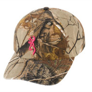 3D Buckmark Hat for Her Realtree Xtra/Fuchsia