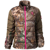 Hell's Belles Blended Down Jacket - Realtree Xtra/Tan, 2X-Large