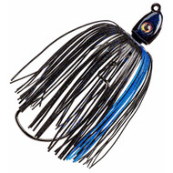 Swinging Swim Jig - 1/2 oz, 4/0 Hook, Black/Blue, Per 1