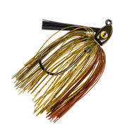 Hack Attack Heavy Cover Swim Jig - 5/0 Hook, 3/8 oz, Green Pumpkin, Per 1