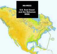 C-MAP NA-M022 Max Wide SD Card East Coast And Bahamas