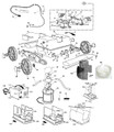 AQUA PRODUCTS   BRACKET (For Center Whel on Jet and Rover units) - Fre Moving bracket for smal black wheel   3394
