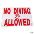 "MAINTENANCE LINE | 12""X18"" SIGN NO DIVING ALLOWED 