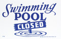 "MAINTENANCE LINE | SIGN POOL CLOSED | POOL SIGN | 12""x6"" 
