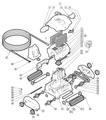 HAYWARD | TUBE-WHEEL, LT. GRAY, SHARKVAC | RCX97409