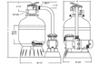 "Jacuzzi®| COMPLETE PUMP & SAND FILTER, 19"" L190-C-7, 1 HP SLR, 1-SPEED, 115V, 6' NEMA CORD | 94084958"
