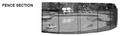 G.L.I. Products | FENCE SECTION, 5 X 10 DESIGNER BLACK | 4300501