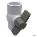 "SUPER PRO | PVC BALL VALVE 1-1/2"" SxS PVC | SUPER PRO SILVER | 25800-150-000"