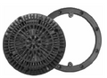CUSTOM MOLDED | MAIN DRAIN RING AND COVER, BLACK | 25548-004-000