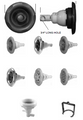 CUSTOM MOLDED PRODUCTS | ROTOSSAGE, GRAPHITE GRAY, STAINLESS | 23452-142-000