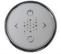 CG+/SENSOR-R-CP - TOPSIDE: CLASSIC LED ROUND, 4 BUTTON CHROME