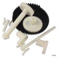 Pentair | Kreepy Krauly SandShark | Gear Kit Includes Item #'s 6, 10, 11, 17, 19, 20 | Large Steering Drive Assembly | Shaft Plug (2) | Long Sprocket Clip | Drive Shaft Assembly | Center Sprocket | Short Sprocket Clip | GW7504