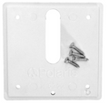 POLARIS, ZODIAC | WHITE MINI JET COVER PLATE W/SCREWS | MJ6300