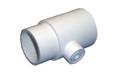 "Waterway | PVC FITTING | TEE 2"" SLIP X 2"" SPIGOT X 1/8"" FPT - WHITE | 413-5010"