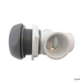 "Waterway | ON/OFF VALVE | 1"" SINGLE PORT 5 SCALLOP GRAY 