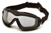 Pyramex GB6410SDT V2G Plus Goggles, Frame: Black , Lens: Dual Clear H2X Anti-Fog (12 Pair)