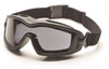 Pyramex GB6420SDT V2G Plus Goggles, Frame: Black , Lens: Dual Gray H2X Anti-Fog (12 Pair)