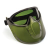 Pyramex GG504TSHIELDIR3 Capstone Goggle Goggles, Frame: Direct/Indirect, Lens: 3.0 IR  Filter Lens with Green Tinted Faceshield Attachment (1 Pair)
